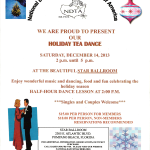 Holiday Tea Dance – December 14, 2013 (2:00 pm – 5:00 pm) – Sponsored by NDTA!