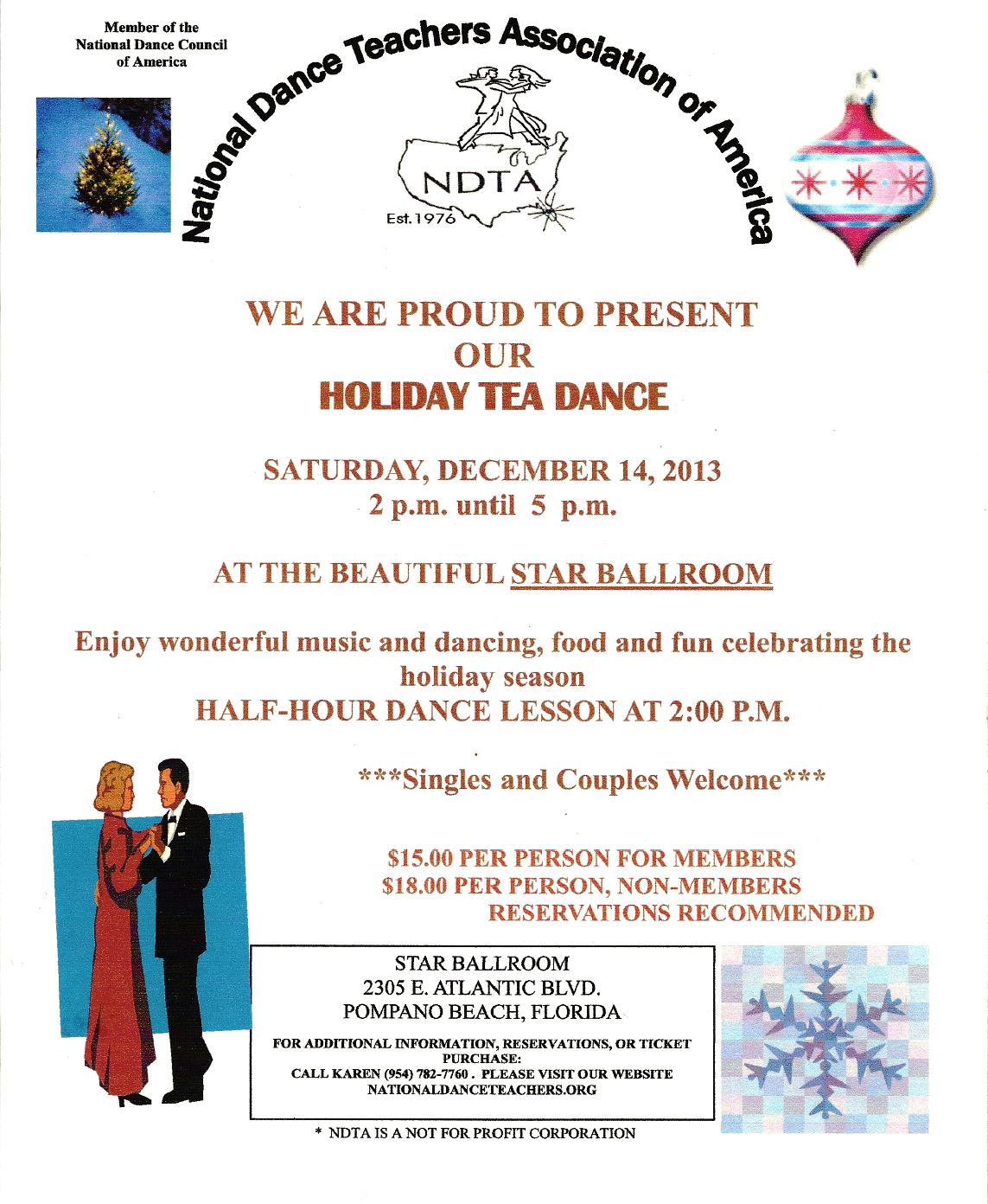 Holiday Tea Dance Flyer