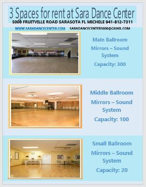 Sara Dance Center, Sarasota, FL - Spaces for Rent - Click for more information on Sara Dance Center