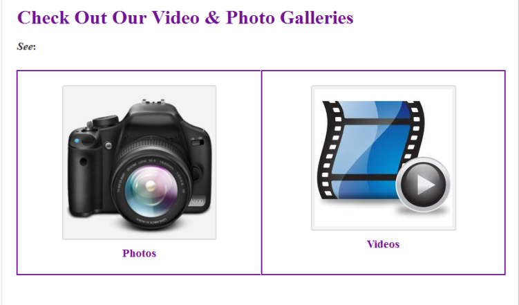 Check Out Our Video & Photo Galleries