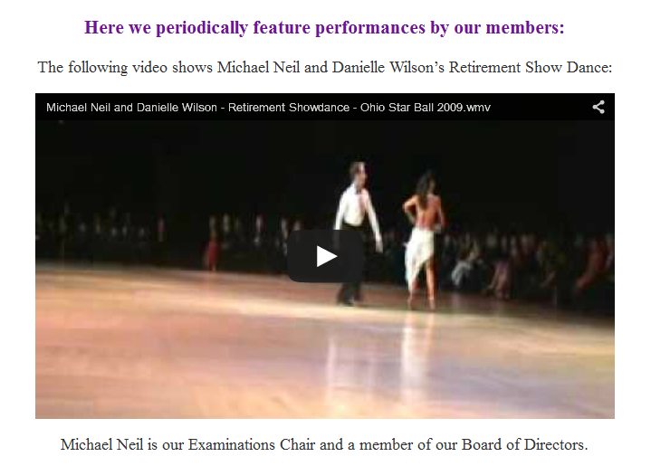 Michael Neil & Danielle Wilson – Retirement Show Dance
