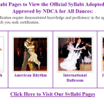 Visit Our Syllabi Pages to Find the Official Syllabi for All Dances