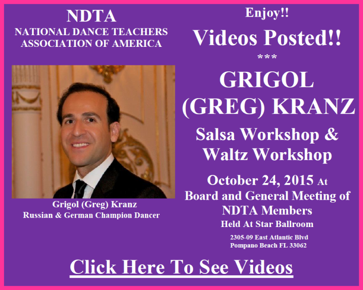 Videos Posted - Grigol (Greg) Kranz Workshops - October 24, 2015 - Click to View Videos