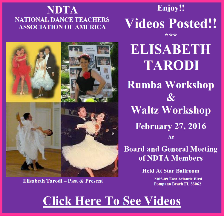 Videos Posted from Elisabeth Tarodi Workshops - February 27, 2016