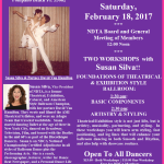 Meeting of NDTA Board & Members with TWO WORKSHOPS BY SUSAN SILVA – Saturday, February 18, 2017