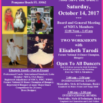 Meeting of NDTA Board & Members with TWO WORKSHOPS BY ELISABETH TARODI – Saturday, October 14, 2017