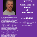 Videos Posted!! – LEE FOX BOLERO & SLOW WALTZ WORKSHOPS – NDTA Meeting, June 23, 2019