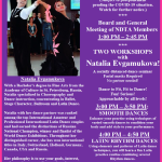 Update: Meeting of NDTA Board & Members with TWO WORKSHOPS by Natalia Evgamukova! – Sunday, July 26, 2020